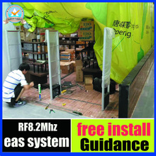8.2mhz EAS RF Security Gate Clothing Anti theft Alarm System anti shoplifting system