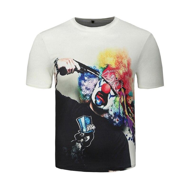Men Women 3d T shirt Clown Print Short Sleeve T-shirt Men Fashion Brand Digital Printing Summer Round Collar Tops Tees Plus Size 4