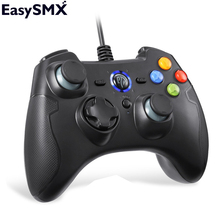 EasySMX ESM-9100 Wired Gamepad Joystick Controller with Dual-Vibration Button for PC PS3 Console Controller TV Box Android Phone(China)
