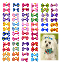 80pcs Love Pet Dog Hair Accessories Rubber Bands Pet Cat Hair Bows Pet Dot Grooming Products Pet shop Dog Accessories 30 styles(China)