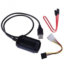 New SATA/PATA/IDE Drive to USB 2.0 Adapter Converter Cable for 2.5/3.5 inch Hard Drive