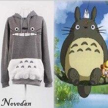 Hayao Miyazaki Anime Women Sweatshirt Cartoon Pokemon Pikachu Totoro Animal Hoodie Autumn Winter Outside Pullover