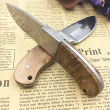 New in knife shadow Wooden handle Outdoor Camping knife Portable Survival Hunting knives with leather sheath knives fixed blade