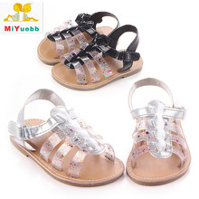 New 1 Pair Children PU Leather Casual Sandals Anti-skid Baby Soft Bottom Shoes 3 Size Baby Prewalking Breathable Shoe(China)