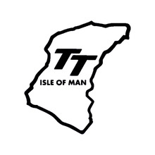 """Isle Of Man TT"" Funny JDM DUB Euro Car Rear Windshield Sticker For Truck Bumper Auto SUV Door Kayak Laptop Art Wall Vinyl Decal(China)"