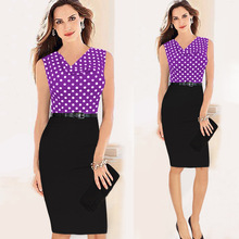 Hot summer 2017 two sets of professional temperament Tunic dress Office Work Business clothes S-XXL Two color optional