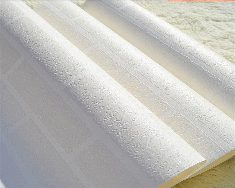 Beibehang Wallpaper Pure White Stereo 3D Brick Pattern Hotel White Brick Wallpaper Modern Home Decorative 3d Wallpaper Roll<br>