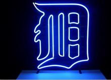 "Business Custom NEON SIGN board For Basketball NBA Detroit Tigers REAL GLASS Tube BEER BAR PUB Club Shop Light Signs 15*13""(China)"