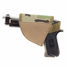 Tactical Nylon Holster Gun Safe Hook & Loop Hook Pistol Holster Right Hand Hook & Loop Gun Holster CP Camo