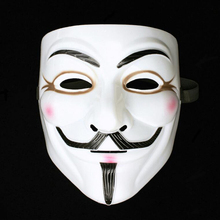 20pcs/lot V For Vendetta Halloween Mask Guy Fawkes Full Face Masks With Eyeline More Colors PVC Film Theme For Adult(China)