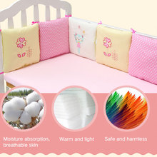 Buy 6Pcs/Set Baby Crib Cot Bumper Cushion Infants Bedding Safety Breathable for $23.15 in AliExpress store