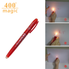 Magic Ink Flame Heating Invisible Vanish Disappear Erasable Ball Pen Magic Tricks Pen 400magic