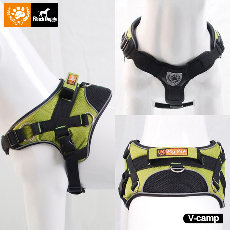 My pet Reflective Chest 64-80cm Nylon Professional Harness Vest Big Dog Outdoor Training Harnesses Straps Pet products Puppy(China (Mainland))
