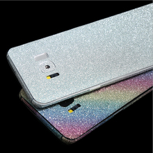 NEW Bling Glitter Diamante de Cristal Brilhante Frente Full Body Wrap filme decalque adesivo de pele para For Samsung S8 S8plus(China)