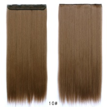 "24""(60cm) #10 brown 1pcs set 100g Women straight Long Synthetic Hair Clip In On Hair Extensions Free Shipping"