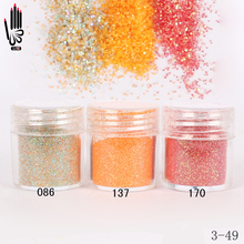 1 Jar/Box 10ml Nail Art 3 Honey Orange Red Nail Glitter Fine Powder For Nail Art Decoration Optional 300 Colors Factory 3-49