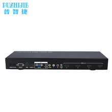 PUZHIJIE PZJ-VW02 1 source to 4 display HDMI video wall controller supported USB VGA Composite HDMI input(China)