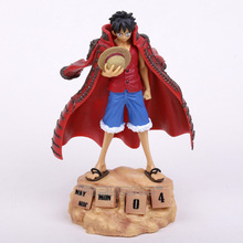 Anime One Piece Monkey D Luffy Eternal Calendar PVC Action Figure Collectible Model Toy 20cm 3 colors