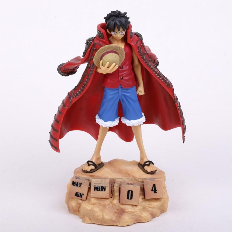 Anime One Piece Monkey D Luffy Eternal Calendar PVC Action Figure Collectible Model Toy 20cm 3 colors<br><br>Aliexpress