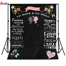 Wedding Background Sweet love Backdrop Chalkboard DIY Backdrops Photocall Custom Name and Date Photo Studio