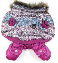 Purple Bubble cotton luxury fur Style Pet dogs Winter Coat Free Shiping By CPAM Dogs Clothing