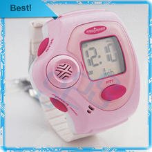 2pcs/lot Brand New pink wrist watch walkie talkie two way radio talkie walkie Free Talker RD-820 free shipping