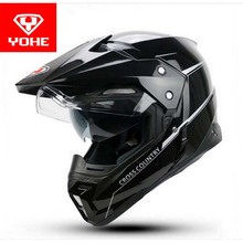 2017 New YOHE Motocross motorcycle helmet cross-country dual-use dual-lens motorbike helmets off road Motor racing helmet YH628A