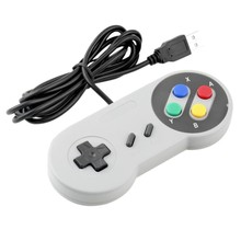 2017 Retro Wired USB Controller Gaming Joypad Joystick For Nintendo SNES Style For PC Window 7/8/10 Gamepad For Mac