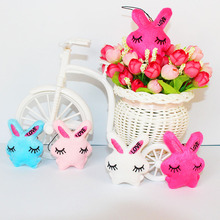 10pieces Mini Stuffed Jointed Rabbit,plush toys for Cartoon bouquet doll Candy BOX TOY Key chain Woman bag car Charm pendant