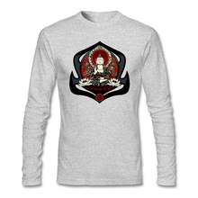 2017 men Gautama Buddha T-Shirt Cool Unique Tee Shakyamuni Buddha t shirt Oversize  Long sleeved uniform For Gentleman