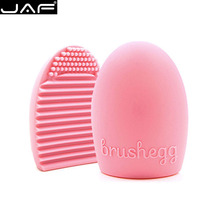1 Piece Retail JAF Brush Egg for Cleaning Makeup Brushes Silicone Brushegg Finger Glove Make Up Brush Cleaner(China)