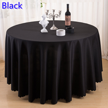 Black colour wedding table cover table cloth polyester table linen hotel banquet party round tables decoration wholesale