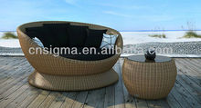 2014 New Design Outdoor Furniture Daybed Wicker Outdoor Daybed Sun Bed