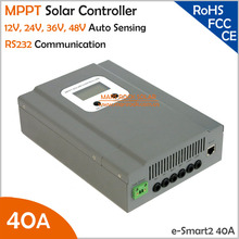 NEW COMING!!! Max. DC100V PV Input 40A MPPT Solar Controller for System 12V/24V/36/48V auto sensing with RS232 Communication