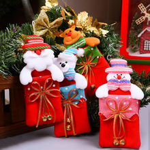 Christmas Santa Ornaments Jewelry Gift Bags Christmas Party Gift Santa Bear Snowman Candy Gift Bag Sack Stocking Filler