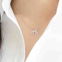 Wholesale 30pc Cute Gold Silver Plated Bicycle Pendant Necklace Sweater Chain For Women Gift Free Shipping