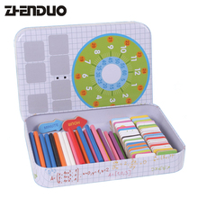 Zhenduo 152pcs Counting Sticks Box Set Montessori Wooden Blocks Number Math Teaching Aids Game Materials Educational Kids Gifts(China)