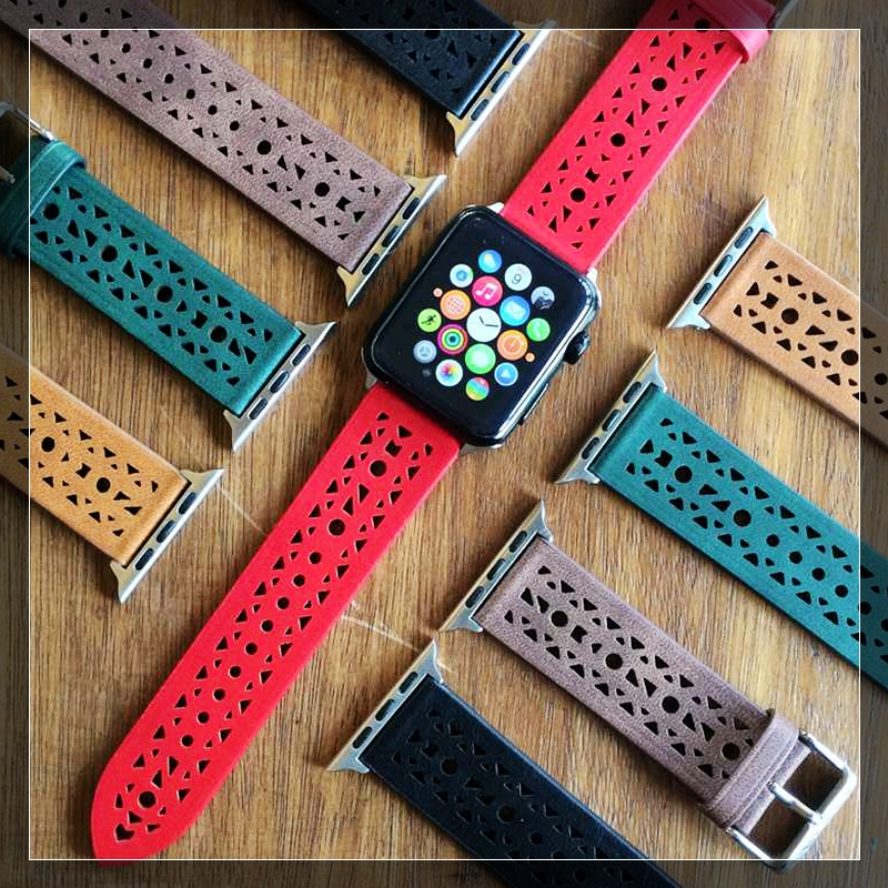 Newest Genuine Leather watch band straps for apple watch series 1 2 3 iwatch watchbands<br>