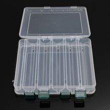 High Strength Plastic Fly Fishing Lure Tackle Box Double Sided Transparent Visible with Drain Hole 10 Compartments(China)
