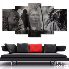 5 Piece Canvas Art  Indian Characters Black And White Painting Canvas Print R Print Poster Picture Canvas Painting By Numbers