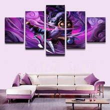 Painting Canvas Print Game Poster 5 Panel Creature Dagger DOTA 2 Riki Warrior Home Decor For Kids Room Artwork Wall Art Pictures(China)