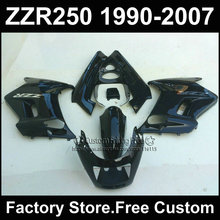 ABS plastic motorcycles fairings kit for Kawasaki ZZR-250 ZZR250 1990 1992 2007 ZZR 250 90-07 black body repair fairing parts