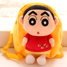 Candice guo! cute cartoon plush toy Crayon Shin-chan doll backpack bag children schoolbag birthday gift 1pc