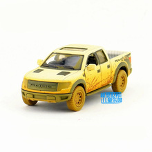 Free Shipping/KiNSMART Toy/Diecast Model/1:46 Scale/Ford F-150 SVT SuperCrew Pickup Truck Muddy/Pull Back Car/Collection/Gift