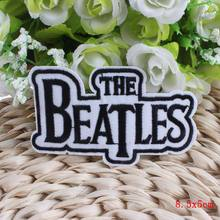 1PCS The Beatles Music Band Iron On Patches Punk Rock Cheap Embroidered Biker Patches For Clothes Badges Skull Letter Patch Logo
