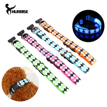 1Pc Adjustable PVC LED High Quality USB Luminous Pet Dog Cat Collars Flash Rechargable Safety Equipment  4Colors S-XL Wholesale
