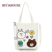 Miyahouse Embroidery Design Casual Tote Bags Women Large Capacity Female Shopping Bag Daily Use Canvas Handbag Lady(China)