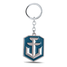 12/pcs/lot World of Warships Keychain can Drop-shipping Metal Key Ring For Gift Chaveiro Key chain Jewelry