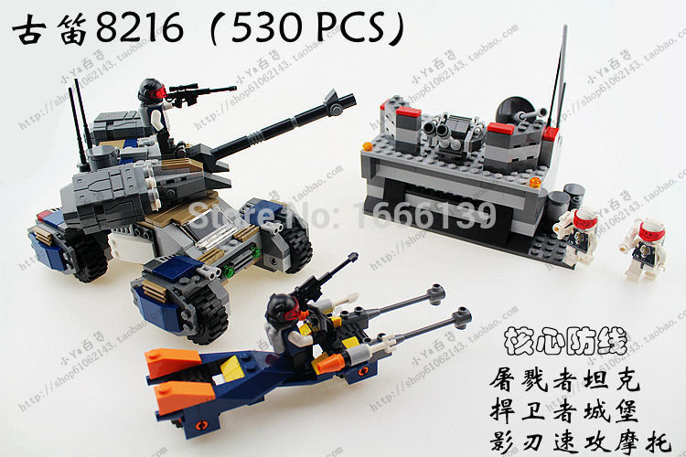 On Stock GUdi bricks star wars 8216 motorcycle tanker building blocks bricks toys children<br>