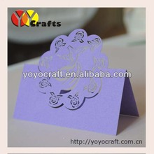 best sell simple new design angel purple place card holder